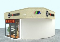动漫加盟店室外模型3D设计展示