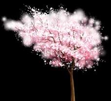 粉色梦幻树木