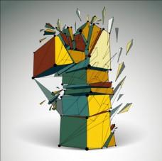 几何堆叠数字