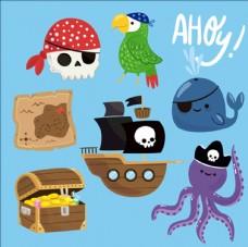 可爱的海盗装饰用品