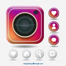 Instagram的图标集