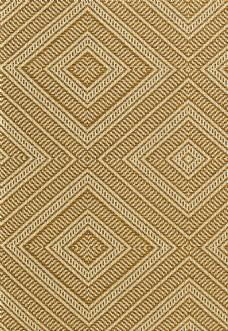西式棕色大格子布艺壁纸