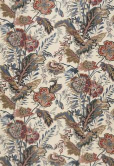 欧式时尚花纹布艺壁纸图片