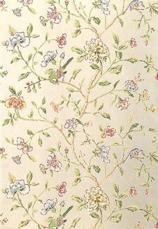 时尚中式花纹布艺壁纸