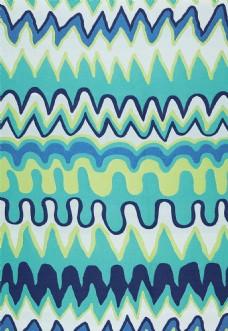多彩色波浪形布艺壁纸图片