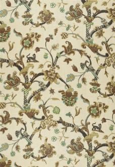 金色花纹布艺壁纸图片