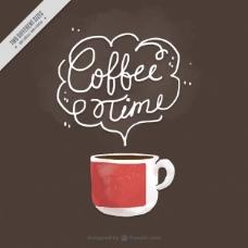 漂亮的背景咖啡杯