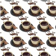 咖啡杯图案背景