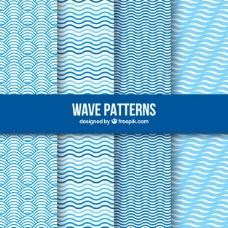 包装蓝色波浪图案