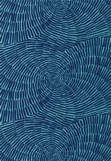 深蓝色手印布纹壁纸图片