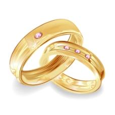 镶钻精美戒指卡通矢量装饰素材