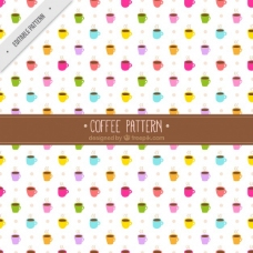 彩色咖啡杯图案