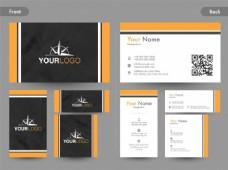 创意名片,名片或名片设计,前后页视图。