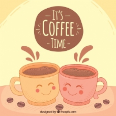 咖啡杯的背景