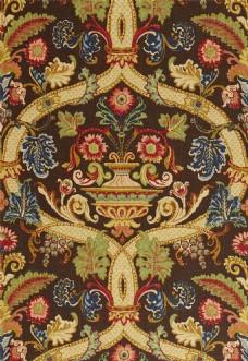 金色树枝花纹布艺壁纸图片
