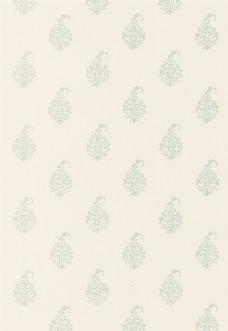 米白色花纹布艺壁纸图片