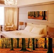 金色树林艺术壁画