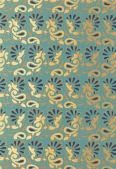 金色花纹无缝壁纸图片