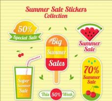夏季促售的可爱贴纸