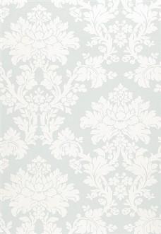 白色花纹布艺壁纸