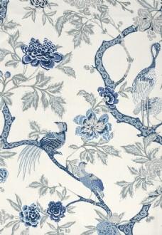 中式时尚花纹布艺壁纸图片