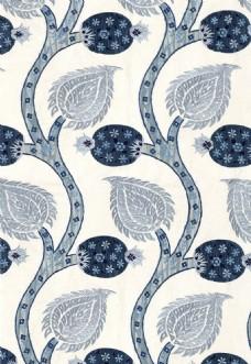 中式花纹布艺壁纸图片