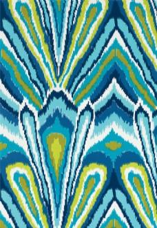 蓝色花纹布艺壁纸图片