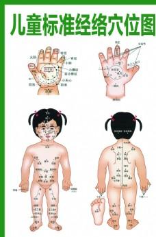 儿童标准经络穴位图