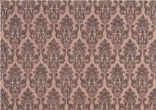 简约西式花纹布艺壁纸