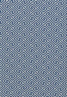 深蓝色边框布艺壁纸