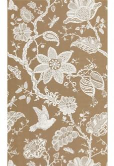 棕色花纹布艺壁纸图片
