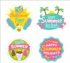 四款夏日标签