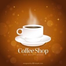 背景虚化背景的咖啡杯