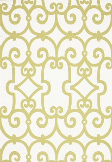 黄色花纹边框壁纸图片