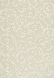 简约米黄色花纹布艺壁纸