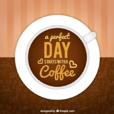 大背景咖啡杯和好短语