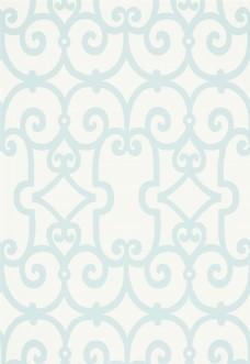 天蓝色花纹边框壁纸