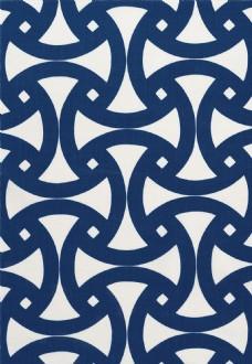 深蓝色边框布艺壁纸图片