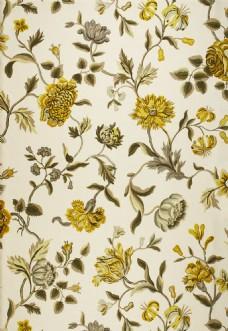 金黄色花朵布纹壁纸
