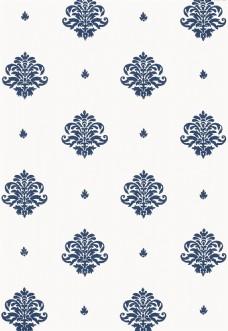 蓝色花纹布纹壁纸图片