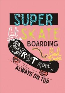 轮滑滑板矢量图下载