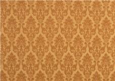 金黄色花纹布艺壁纸图片