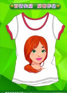 卡通衣服 T恤圖案  矢量衣服