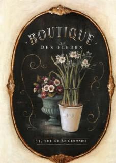 古典 植物花卉 装饰油画