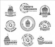 美味的甜点店标签标识标志