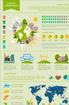 全球循环能源绿色生态信息图